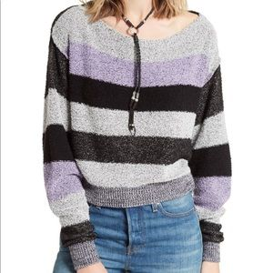 Free people candy land pullover sweater